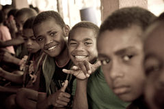 School kids. In Viti Levu, Fiji Stock Photos