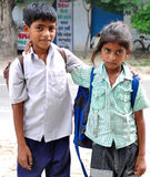 School kids. Beautiful shot of school kids with school bag Stock Photo
