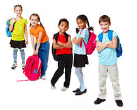 School kids. Group, over white Stock Images