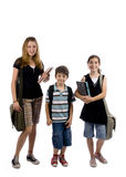 School Kids. Young kids are ready for school. Education, family, learning Royalty Free Stock Image