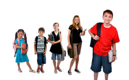 School Kids. Young kids are ready for school. Education, family, learning Royalty Free Stock Photo