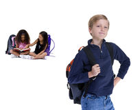 School Kids. Young kids are ready for school. Education, family, learning Stock Photo