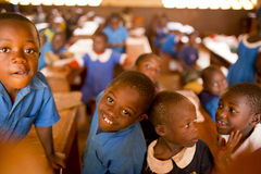 School kids from Cameroon. A primary school from Cameroon Royalty Free Stock Photos