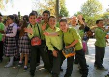 School kids on school trip Royalty Free Stock Photos