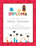 School Kids Diploma certificate background royalty free illustration