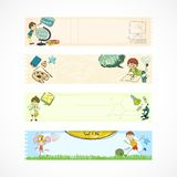 School kids education banners Stock Photography