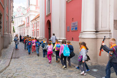 School kids excursion Royalty Free Stock Photo