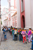 School kids excursion Royalty Free Stock Photo