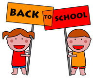 School kids stock illustration