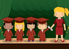 School Kids Graduation Royalty Free Stock Photography
