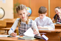 School kids at lesson Royalty Free Stock Image