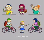School kids set Stock Photos