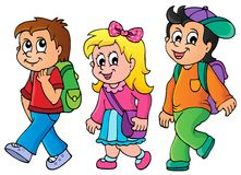 School kids theme image 3 Royalty Free Stock Photos