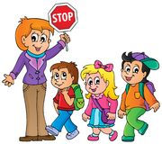 School kids theme image 1 Royalty Free Stock Photos