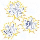 School. Krabbelsachtergrond Stock Fotografie