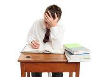 School-Kursteilnehmer am Schreibtisch Lizenzfreie Stockfotografie