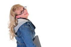 School-Kursteilnehmer und -laptop Lizenzfreie Stockfotografie