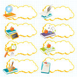 School labels stock illustration
