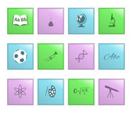 School lessons icon on a colored buttons Royalty Free Stock Photography