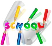 School letters Stock Photography