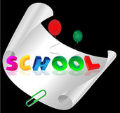 School letters Royalty Free Stock Images