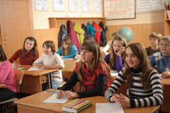 School life routine Stock Image