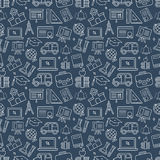 School line icon pattern set Stock Image