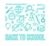 School linear icon. Education design illustration. Back to schoo Royalty Free Stock Photo
