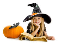 School of little witches. Royalty Free Stock Image