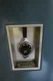 School Locker. Closeup of a combination lock on a school locker royalty free stock images