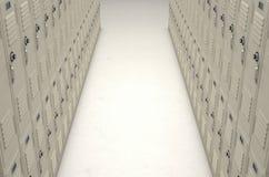 School Locker Corridor Royalty Free Stock Image