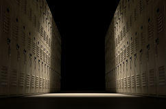 School Locker Corridor Stock Image