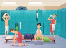 Vector art vector locker changing room for sports gym eps
