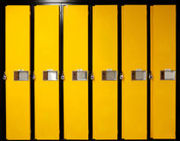 School lockers. Image of yellow school lockers Royalty Free Stock Images