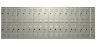 School Lockers Front Royalty Free Stock Photo
