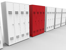 School lockers target in row concept Stock Photo