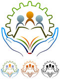 School logo. Isolated illustrated school logo design against white background Stock Photography