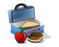 School Lunch. A healthy lunch for back to school. Background is on a work path Royalty Free Stock Photography