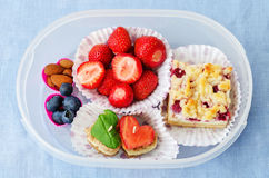 School lunch box for kids Stock Photography