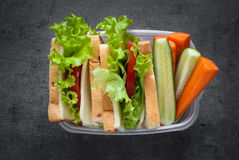 School Lunch box Royalty Free Stock Images