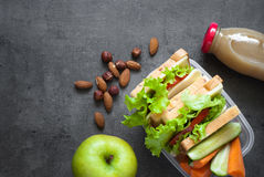 School Lunch box Royalty Free Stock Photo
