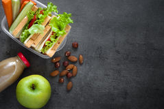 School Lunch box Stock Image