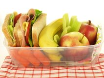 School lunch, isolated Royalty Free Stock Image