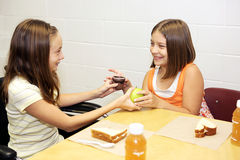 School Lunch - Trade Royalty Free Stock Photo