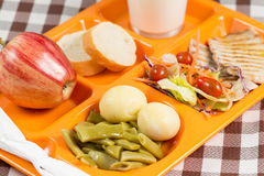 School lunch tray Stock Image