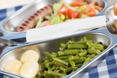 School lunch tray Royalty Free Stock Image