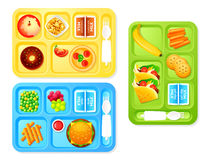 School lunches Royalty Free Stock Photos