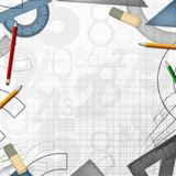 School math drawing tools background Stock Images