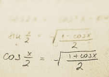 School - Math formulas stock photos