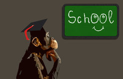 School monkey Royalty Free Stock Images